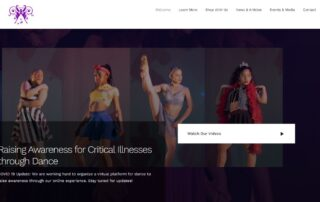RUBI Digital provides remote web design in Philadelphia for New York Dance Company to raise awareness for critical illnesses