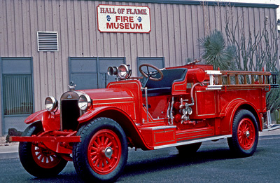 """""""Baby Stutz"""" 350 gpm engine modified in 1930 by the New Stutz Fire Apparatus Company."""
