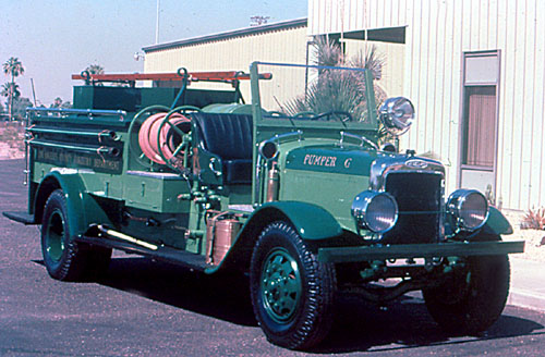 Brush truck. Ex – Los Angeles County, CA.  Donated by Gene Autry.