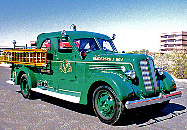 Triple combination fire engine. Ex – Vandergrift, PA and ALCOA Fire Brigade.