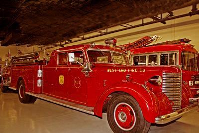 Sedan cab fire engine. Ex West End Fire Co., Stowe, PA.