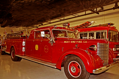 Sedan cab fire engine. Ex West End Fire Co., Stowe, PA.