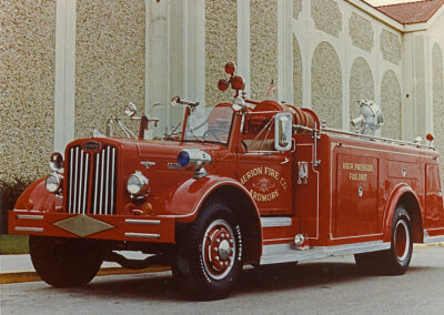 High pressure fog fire engine. ex – Ardmore, PA. 70 gpm Hardie Pump.