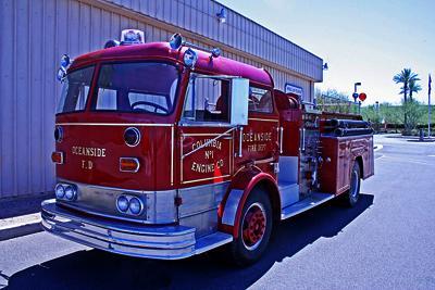 Cab Forward fire engine. Ex – Oceanside NY and Chatfield, NY