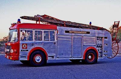 Pump/escape ex-Nottinghamshire County Fire Brigade, town of Retford.