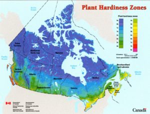 Plant hardiness zone map Canada