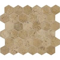 Walnut Dark Hexagon