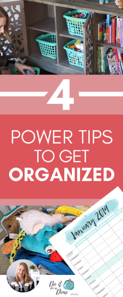 FOUR POWER TIPS TO GET ORGANIZED IN 2019! In today's video, I'm sharing four of my favorite power tips to get organized and declutter in 2019!
