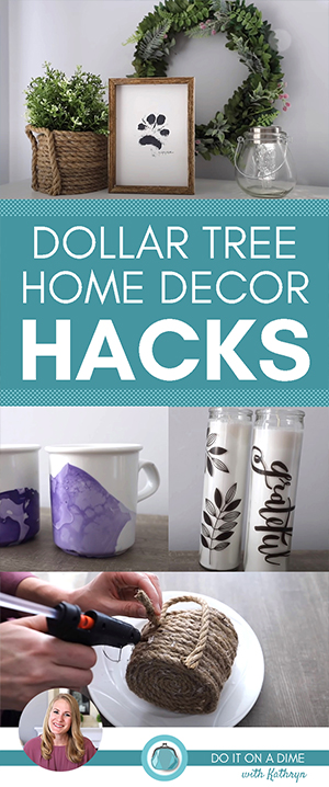 Today I'm sharing with you some of my new favorites from Dollar Tree. These $1 Dollar Tree DIYs are simple, fast, and make beautiful home decor.