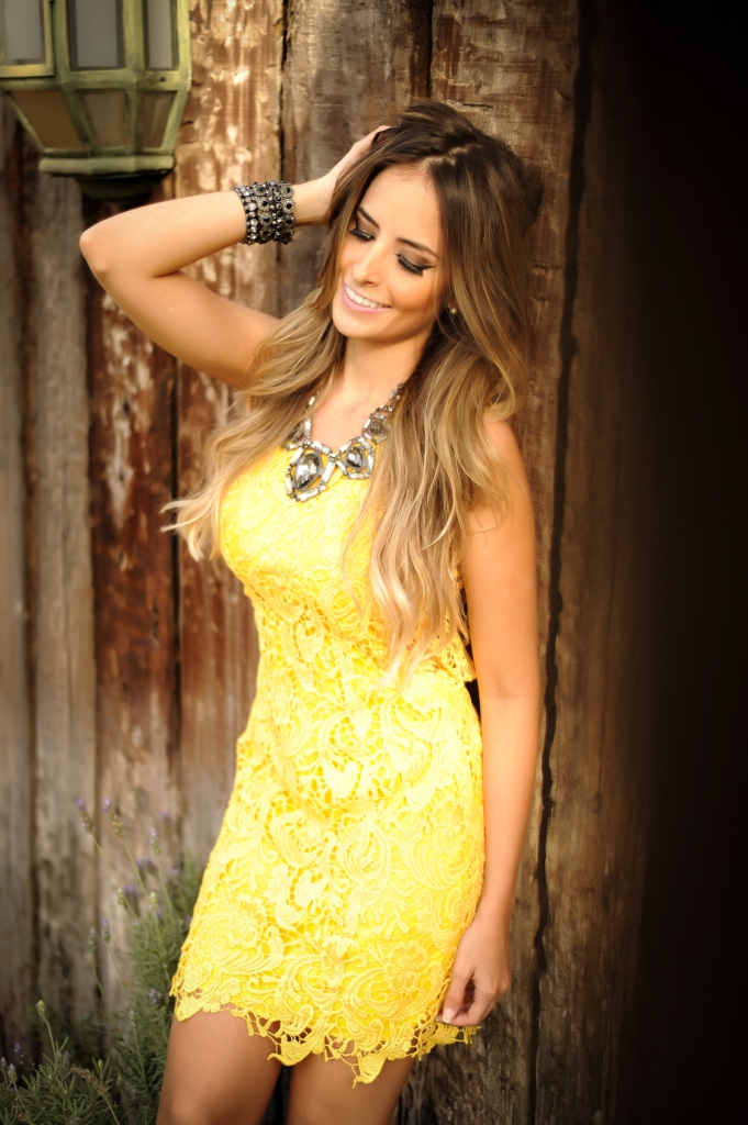 Meu look – Yellow Dress!