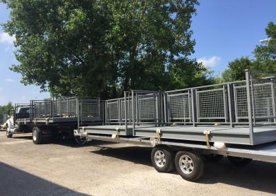 aluminum balcony shipped complete