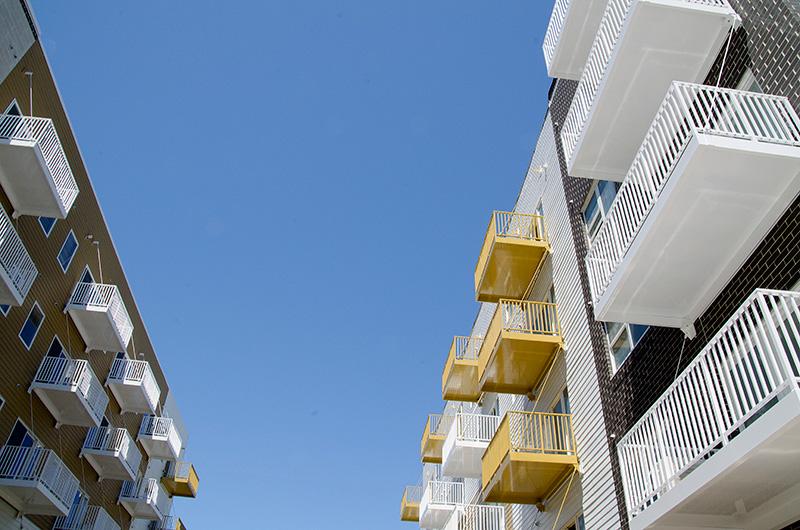 powder coated gold balcony