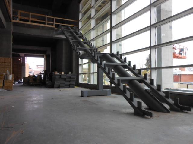prefab steel egress stairs