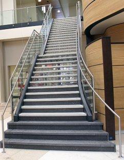 curved steel stair