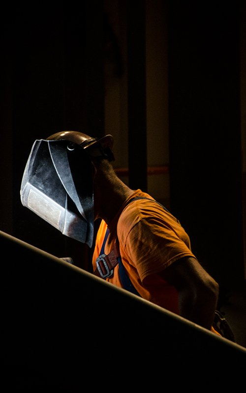 welding steel stairs