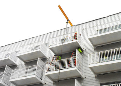Balcony Privacy Panels at RHYTHM multifamily apartments
