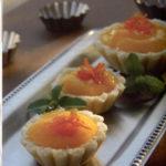 Mango Sorbet-Macaroon Tartlets