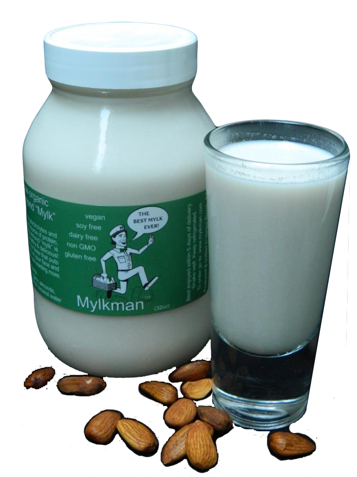 Fresh organic almond mylk delivered to your door (next level delicious!)