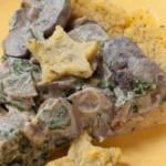 Booze-Infused Mushroom-Polenta Pie