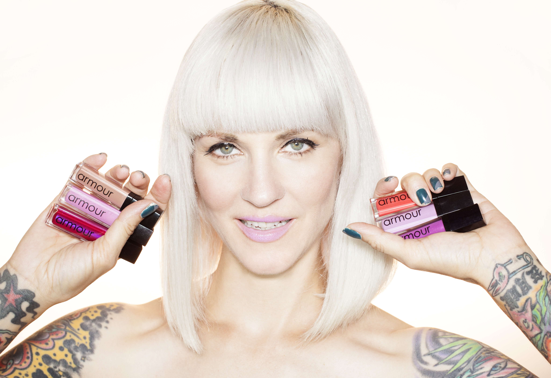 Theo Kogan's line of vegan lipglosses, Armour Beauty
