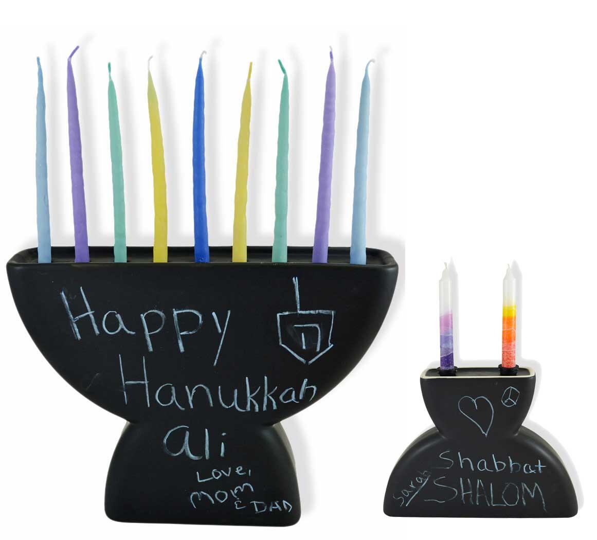 Chalkboard Menorah, $19 @traditionsjewishgifts.com