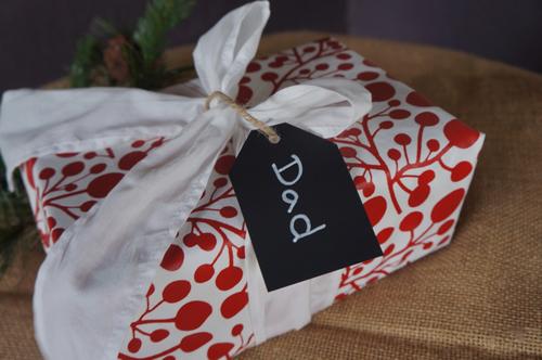 Cranberry Gift Wrap , $16 @enfoldgiftwrap.com