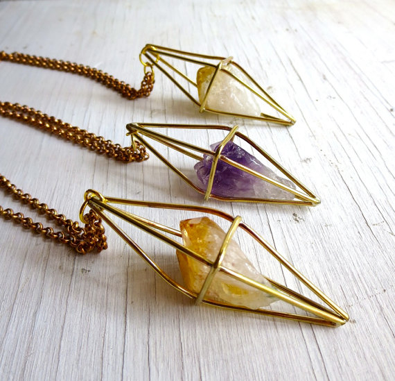 Citrine Necklace by Chaseandscout, $110 @etsy.com
