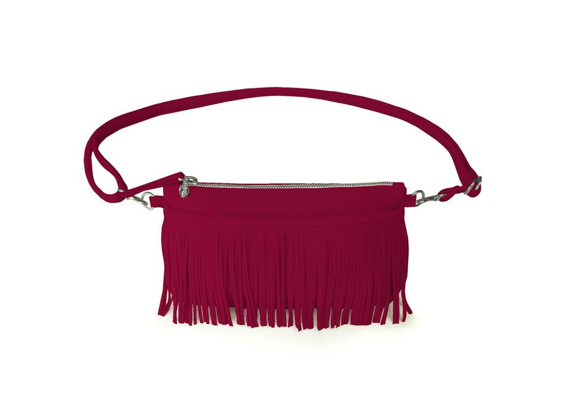 Hipster For Sisters Fringe Belt Bag in Mulberry, $145 @hipstersforsisters.com