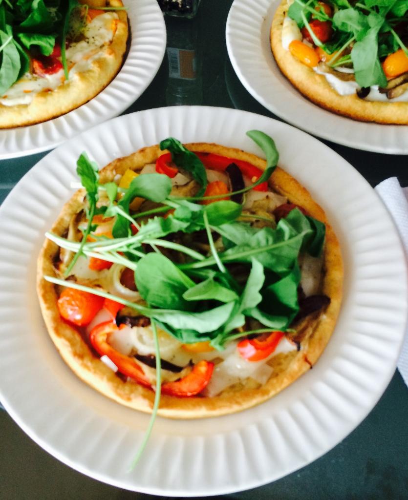 Cornmeal Crusted Deep Dish Four Cheese Vegan Pizza