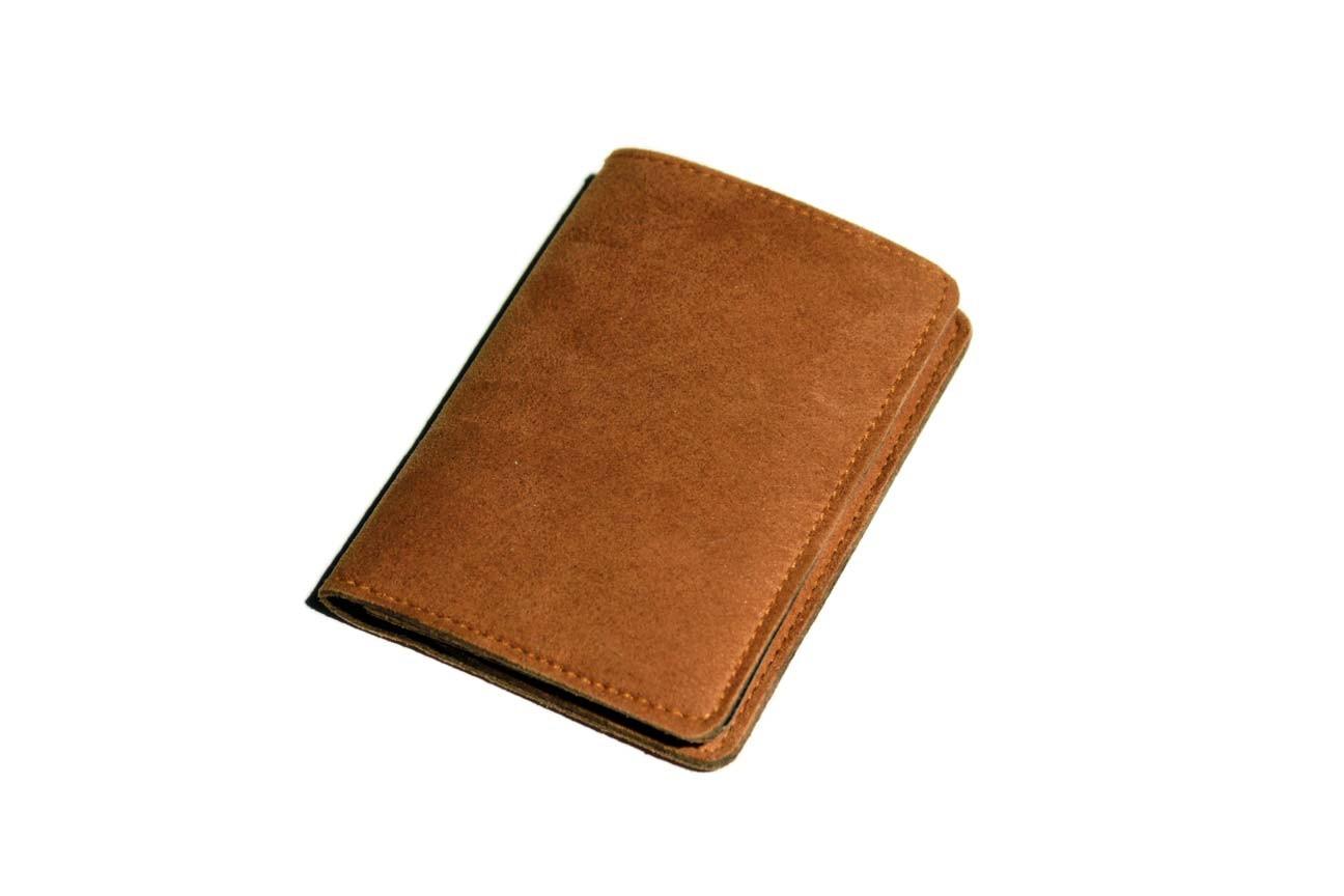 Brave Gentleman Vegan Suede Passport Wallet, $150