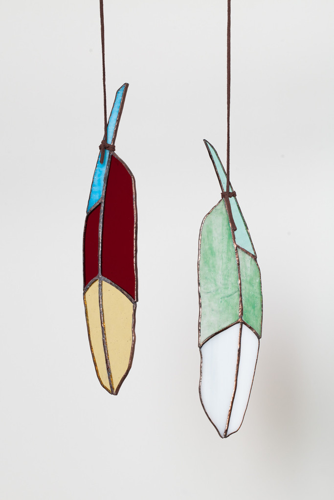 Colin Adrian Stained Glass Atsos Feather, $75