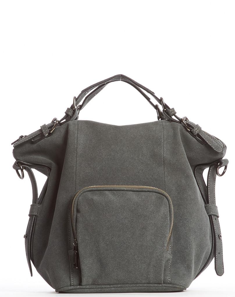Cri De Coeur Orian Ultrasuede Satchel Bag - Gray, $180
