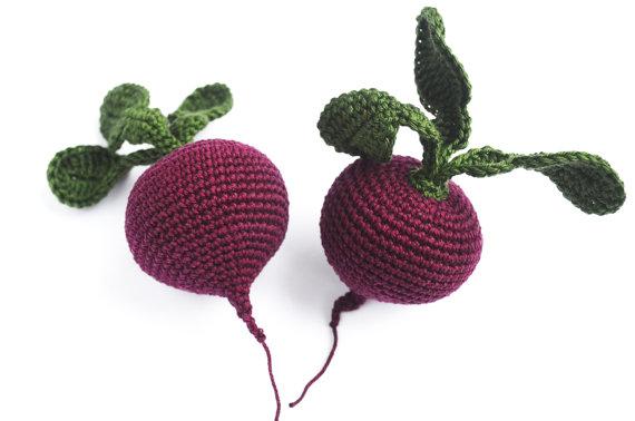 Crochet Beets, $6
