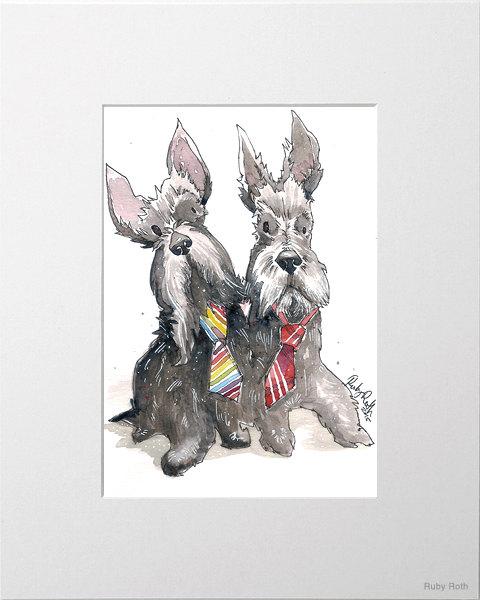 Custom Dog Portraits by Ruby Roth, $100