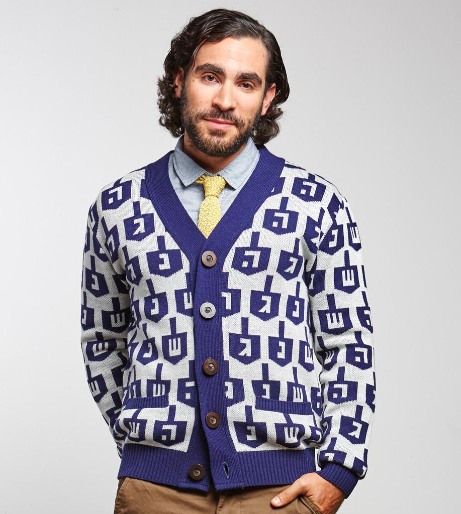 GelfFiend Mens Spinmaster Hanukkah Sweater, $60