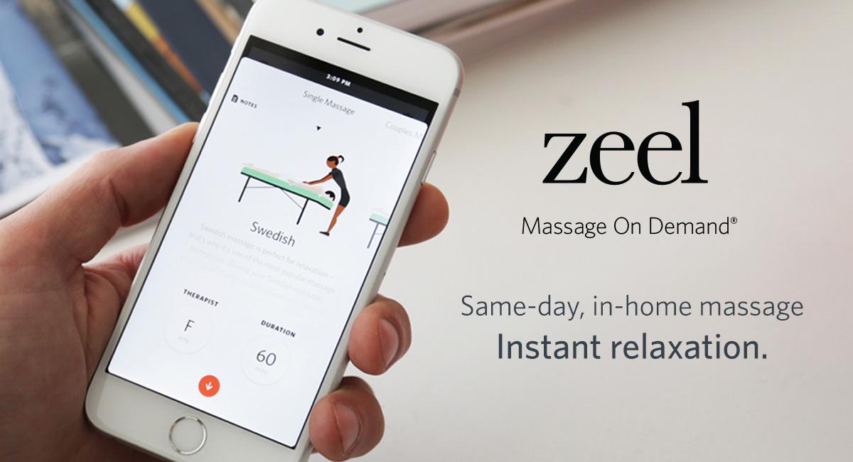 Zeel Massage On Demand, $110 and up (use code 5v0o for $25 off)