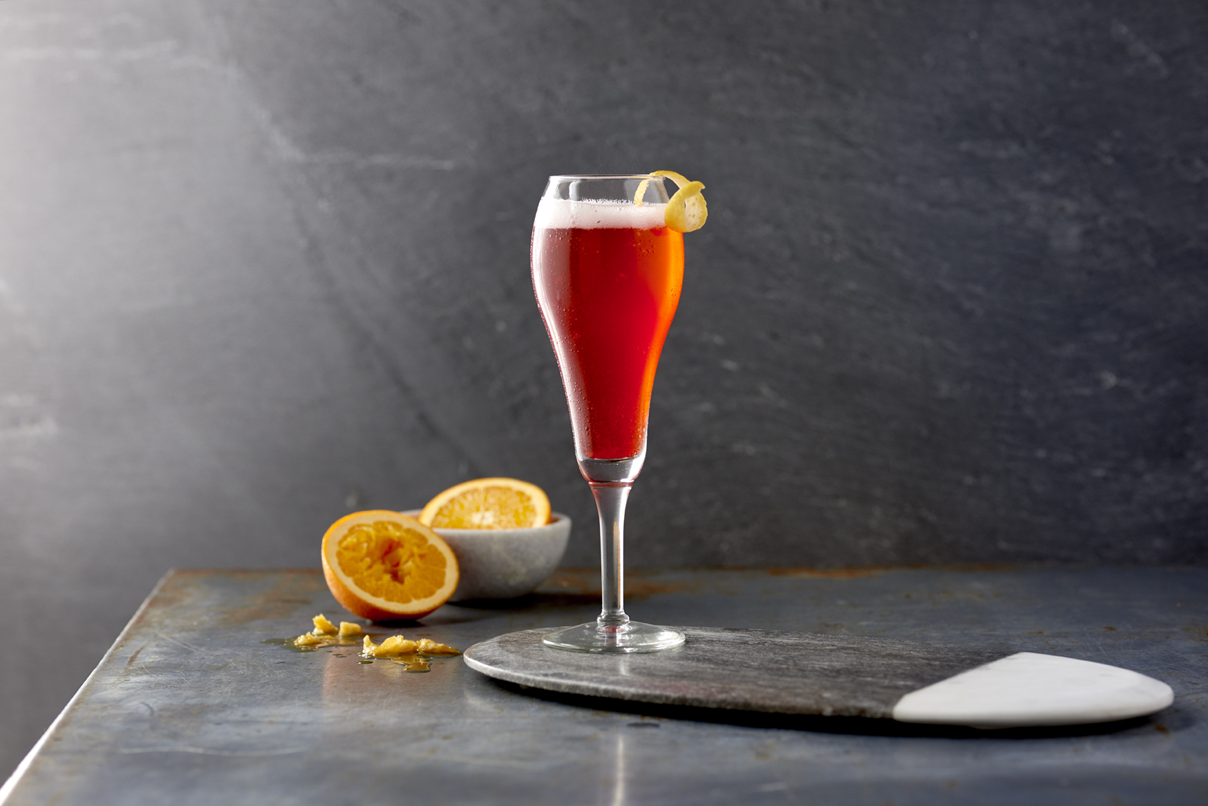 The perfect sexy Valentine's Day nightcap cocktail that will sure please any date. Zodiac Vodka's Black Cherry 75 will set the mood <3