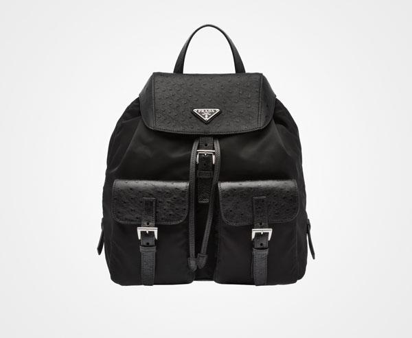 Prada Ostrich Backpack, $3,710