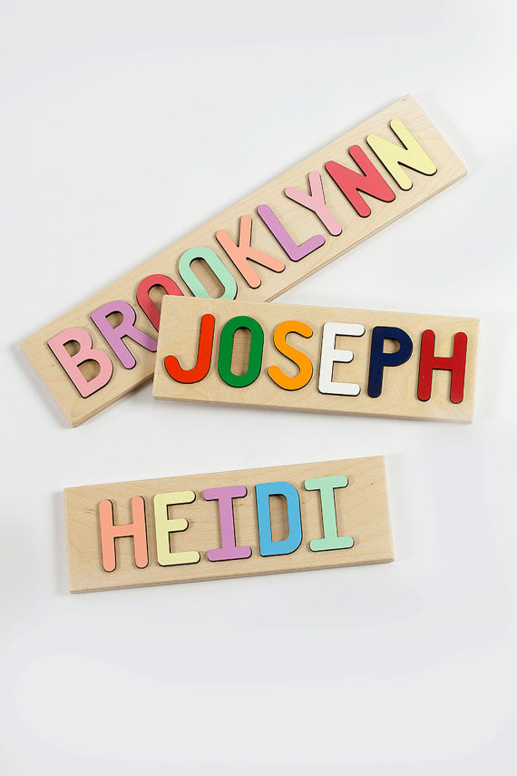 Personalized Kids Name Puzzle, Wooden Puzzle, $29.95 @etsy.com