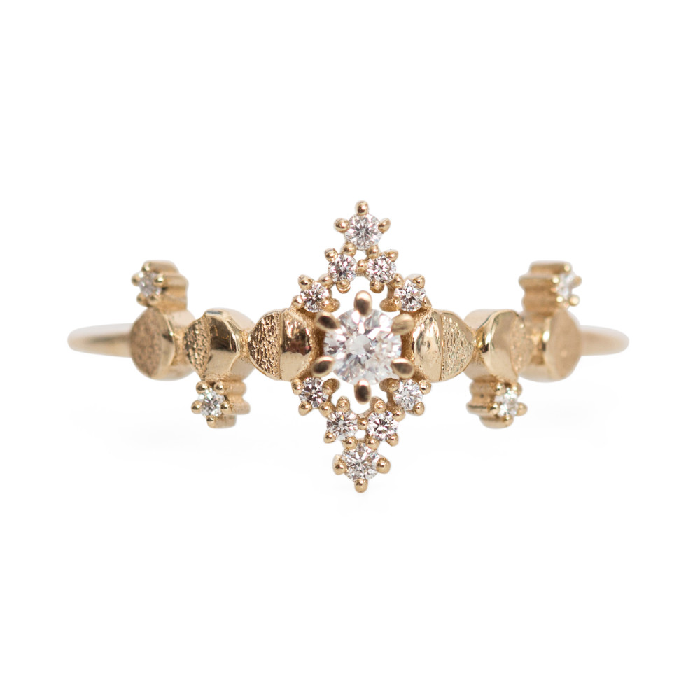 Cosmic Witch Ring, $1,350 @catbird.com A portion of all sales on Catbird jewelry go to ACLU, Planned Parenthood, and more like-minded charities! The jewelry is all cosimic and out of this world! Request overnight shipping!