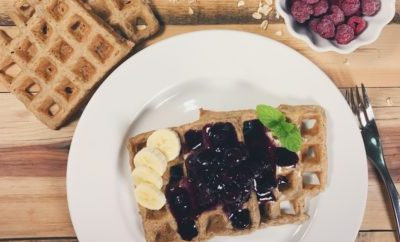 The Best Gluten and Dairy Free Waffle & Blueberry Sauce Recipe