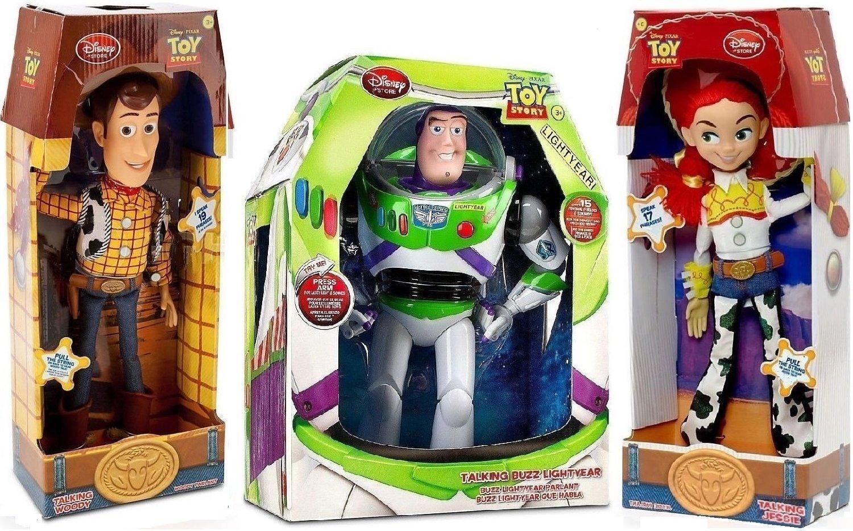 Toy Story Woody, Buzz Lightyear, Jessie Cowgirl talking action figure Dolls by Disney, $119 @amazon.com