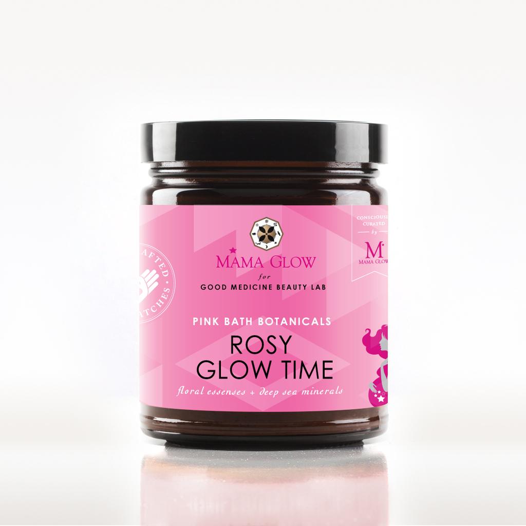 Mama Glows ROSY GLOW TIME / pink bath botanicals, $30 @goodmedicinebeautylab.com