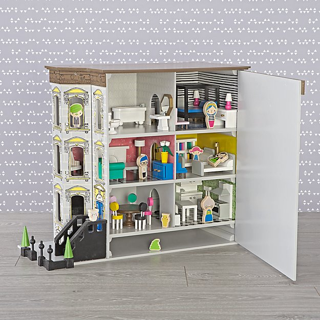Brownstone Dollhouse Deluxe Set, $277 @landofnod.com