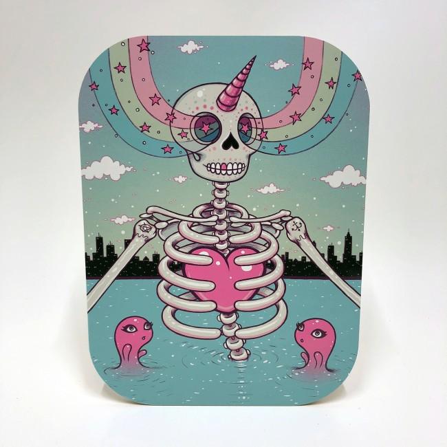 Skelton Heart by Tara Mcpherson, $90 @printsonwood.com