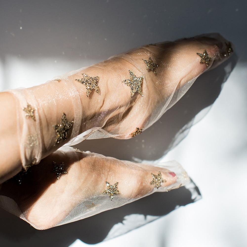 Among the Stars tulle socks, $32 @catbirdnyc.com