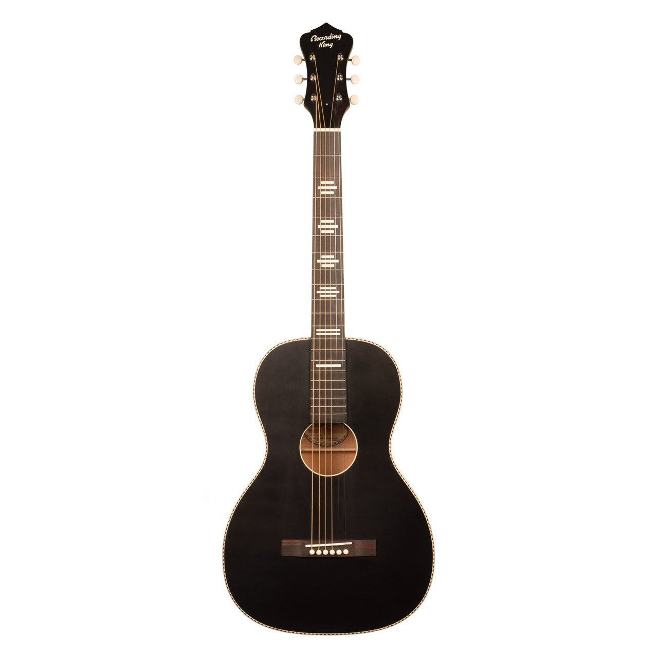 Recording King RPS-7-MBK Dirty 30's Series 7 Single 0 Acoustic Guitar, Matte Black, $156
