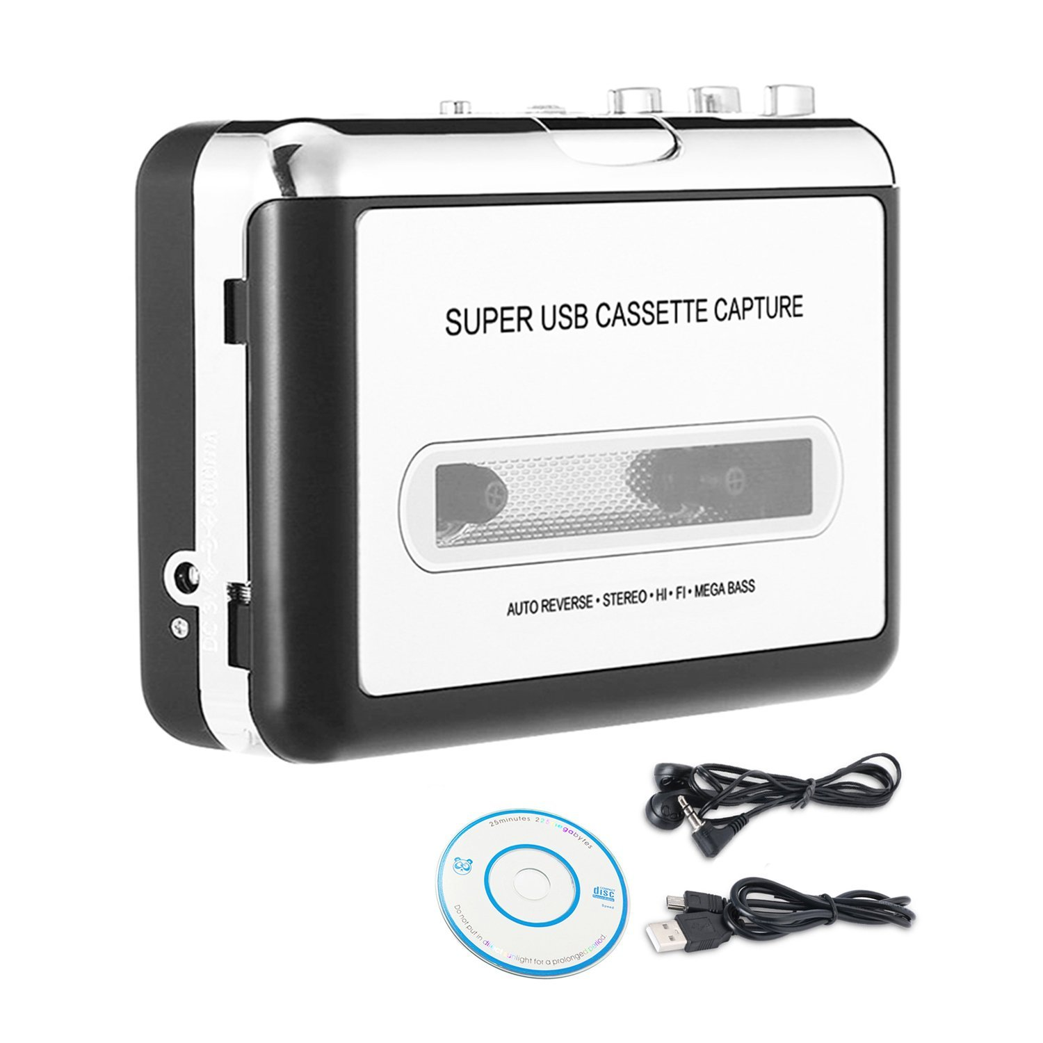 Cassette to MP3 ConverterWikoo USB Cassette Converter Cassette Player with Earphone, Portable Cassette Converter Convert Tapes to Digital, $26