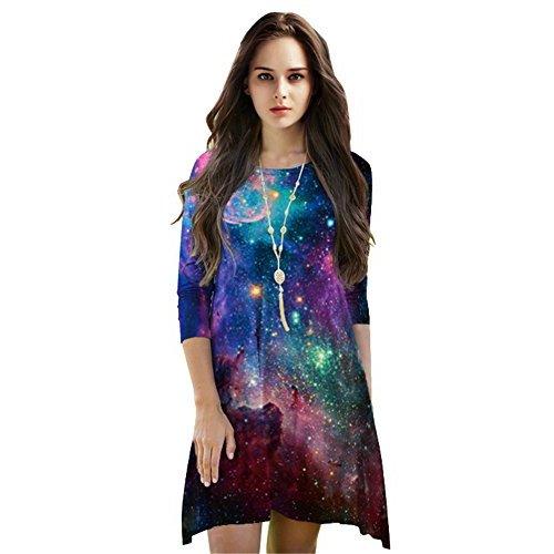 Jescakoo Bright Print Pleated Skater Tank Dress, $15