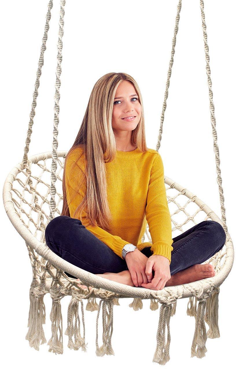 Sorbus Hammock Chair Macrame Swing, $69